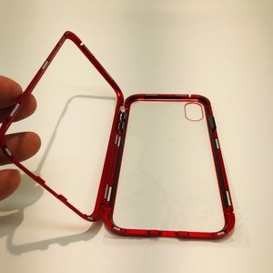 Magnetic IPhone Bumper Case with clear back